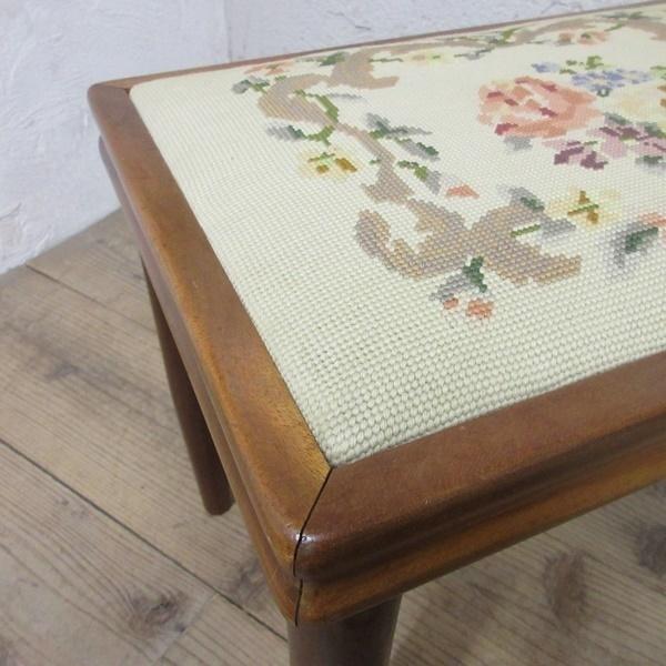 イギリス アンティーク 家具 スツール 椅子 チェア クロスステッチ 木製 英国 OTHERCHAIR 6807b_画像8