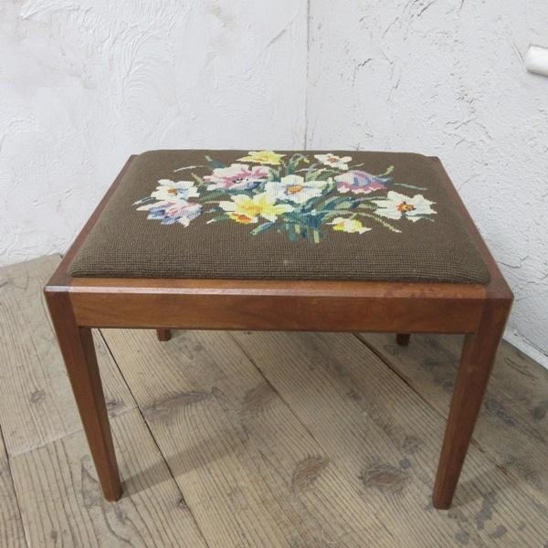イギリス アンティーク 家具 スツール 椅子 チェア クロスステッチ 木製 英国 OTHERCHAIR 6808b_画像2