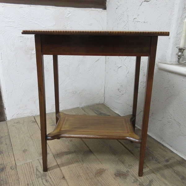 イギリス アンティーク 家具 セール オケージョナルテーブル サイドテーブル 飾り棚 花台 木製 英国 SMALLTABLE 6802b 特価_画像3