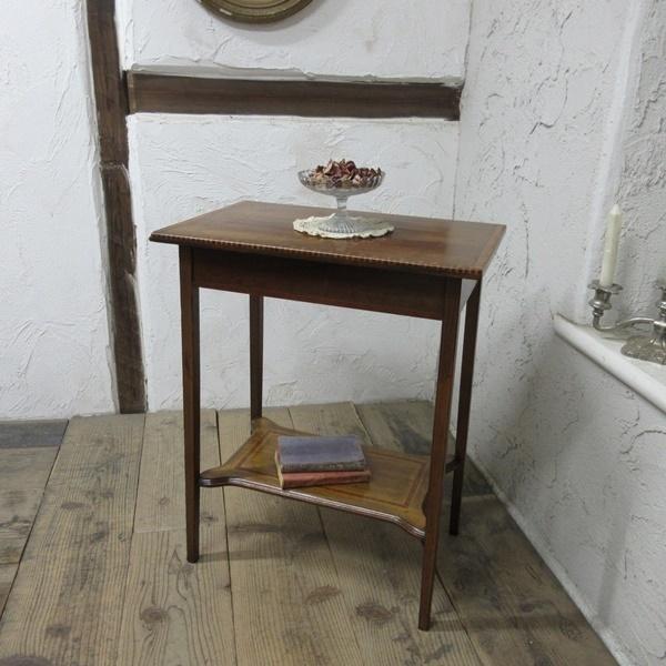 イギリス アンティーク 家具 セール オケージョナルテーブル サイドテーブル 飾り棚 花台 木製 英国 SMALLTABLE 6802b 特価_画像1