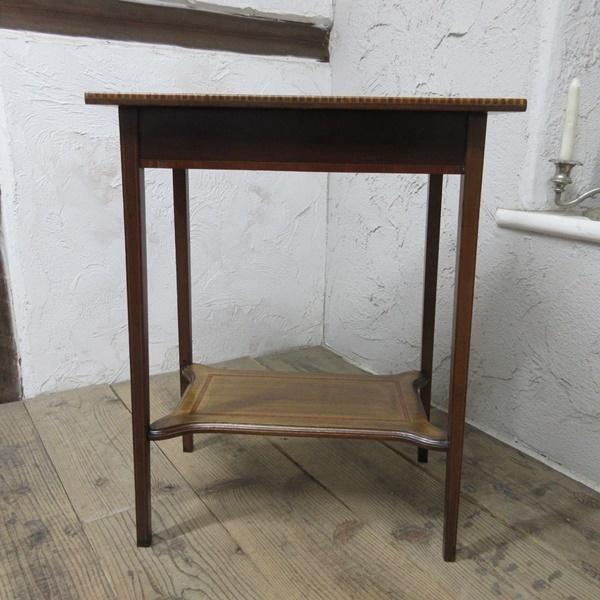 イギリス アンティーク 家具 セール オケージョナルテーブル サイドテーブル 飾り棚 花台 木製 英国 SMALLTABLE 6802b 特価_画像8
