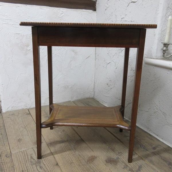イギリス アンティーク 家具 セール オケージョナルテーブル サイドテーブル 飾り棚 花台 木製 英国 SMALLTABLE 6802b 特価_画像6