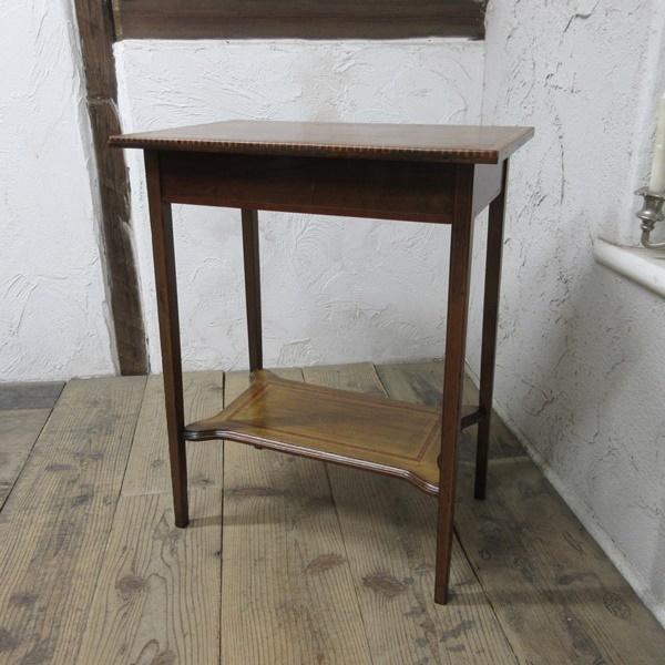 イギリス アンティーク 家具 セール オケージョナルテーブル サイドテーブル 飾り棚 花台 木製 英国 SMALLTABLE 6802b 特価_画像2