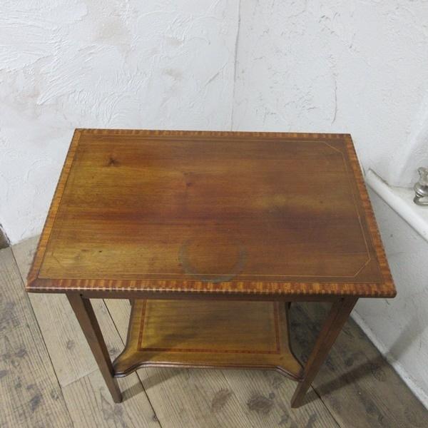 イギリス アンティーク 家具 セール オケージョナルテーブル サイドテーブル 飾り棚 花台 木製 英国 SMALLTABLE 6802b 特価_画像4