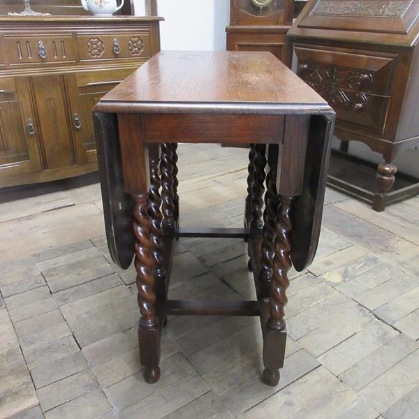 イギリス アンティーク 家具 ダイニングテーブル バタフライ ゲートレッグテーブル ツイストレッグ木製 英国 TABLE 6868b_画像7