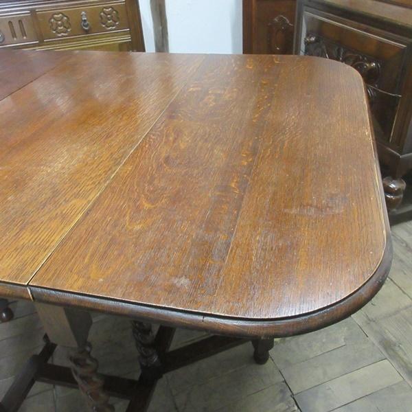 イギリス アンティーク 家具 ダイニングテーブル バタフライ ゲートレッグテーブル ツイストレッグ木製 英国 TABLE 6868b_画像10