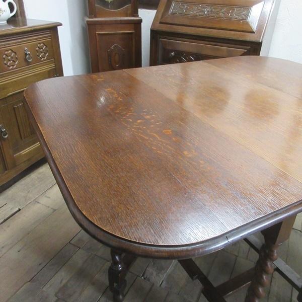 イギリス アンティーク 家具 ダイニングテーブル バタフライ ゲートレッグテーブル ツイストレッグ木製 英国 TABLE 6868b_画像8