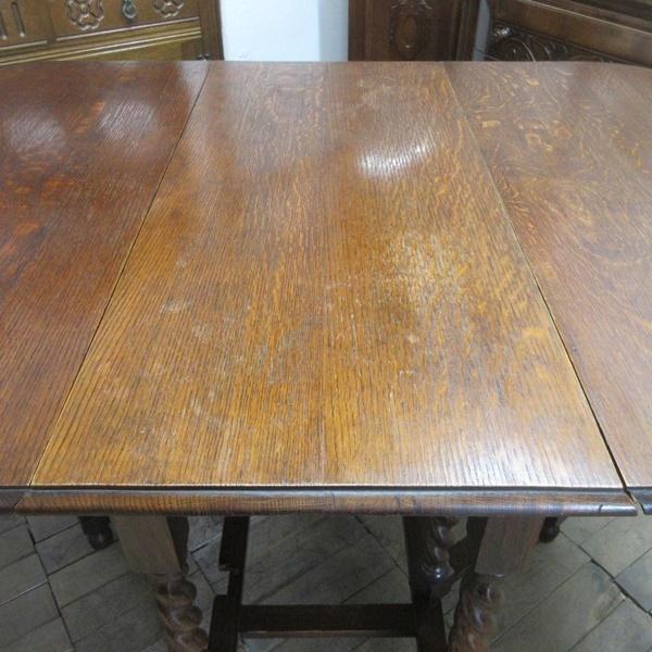 イギリス アンティーク 家具 ダイニングテーブル バタフライ ゲートレッグテーブル ツイストレッグ木製 英国 TABLE 6868b_画像9