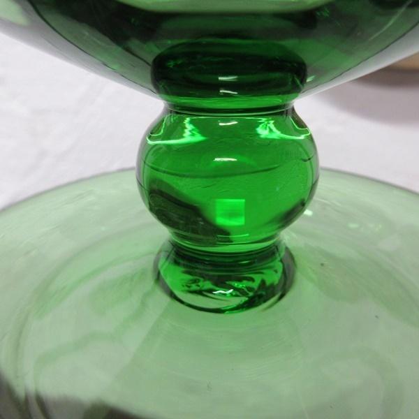 イギリス インテリア雑貨 ガラス製 ペア デザートグラス アイスクリームグラス グリーンガラス 器 ディスプレイ 英国 glass 1585sa_画像10