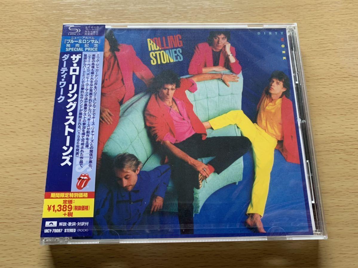 新品未開封 高音質国内盤SHM-CD 希少期間限定盤 ザ・ローリング・ストーンズ ダーティ・ワーク The Rolling Stones DIRTY WORK 送料無料