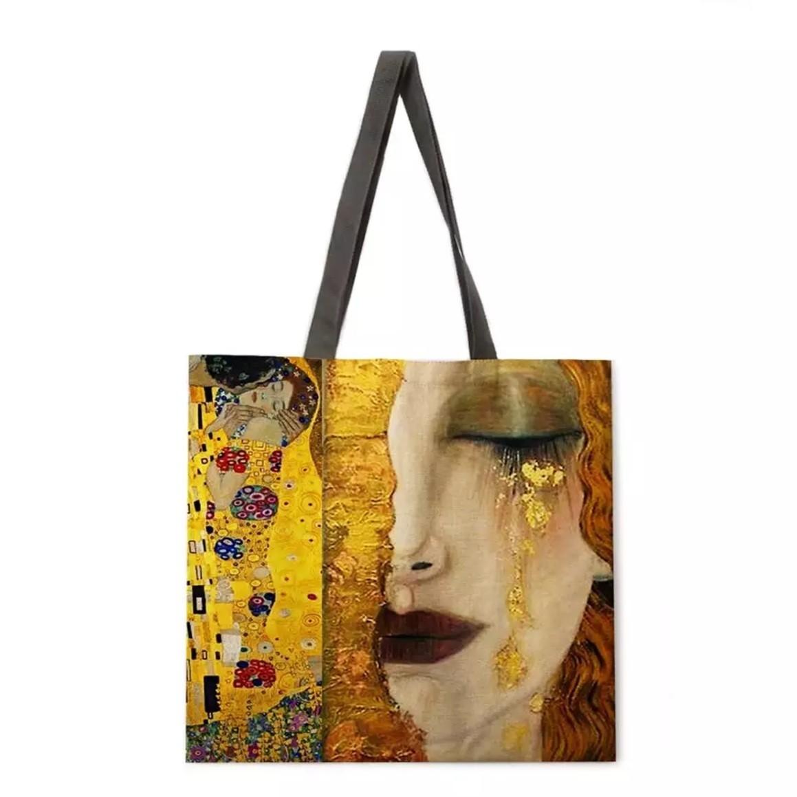 トートバッグ エコバッグ ショッピングバッグ マザーズバッグ ショルダーバッグ バッグ bag グスタフクリムト クリムト 接吻