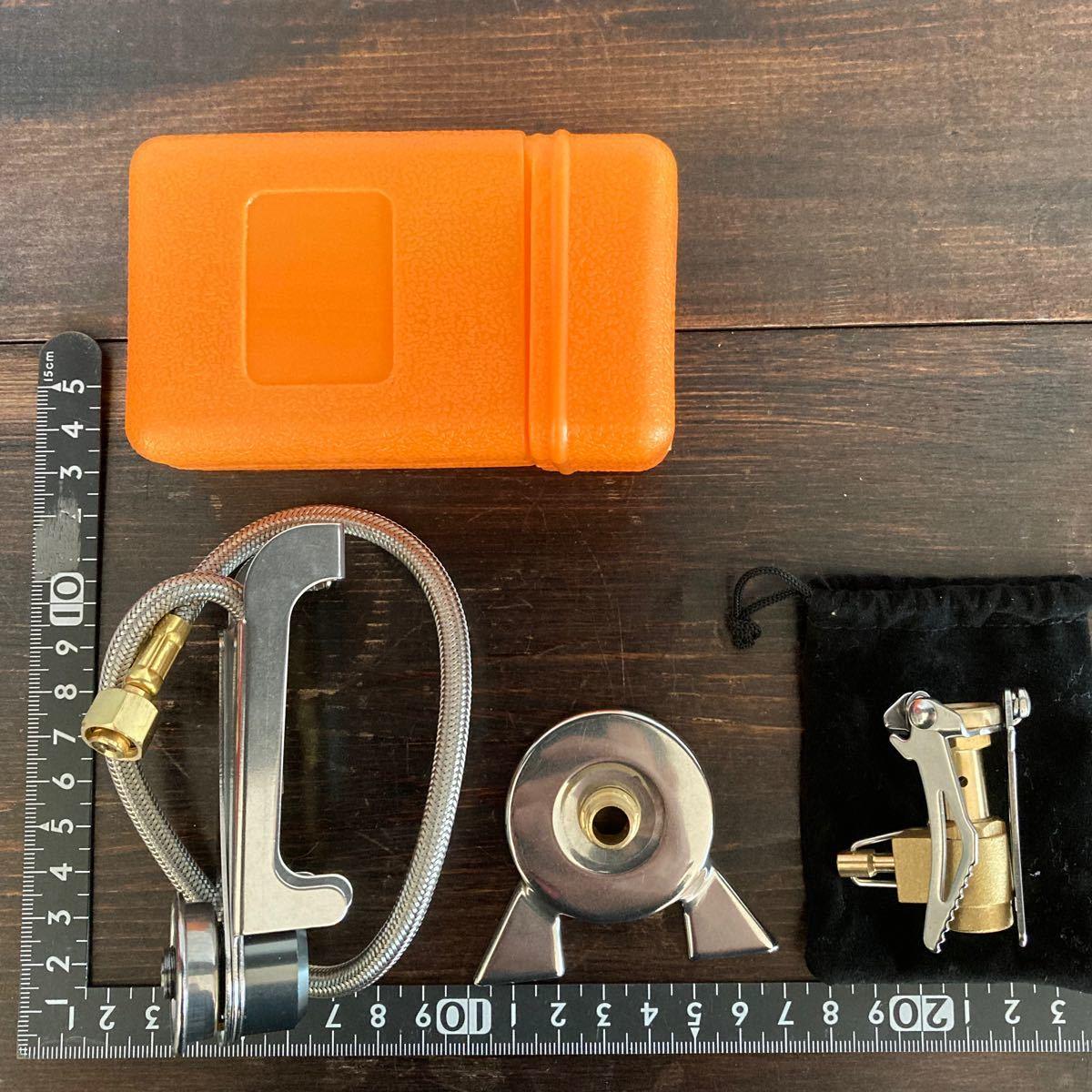 新品 シングルバーナ(OD缶用)+OD缶→CB缶変換アダプターセット
