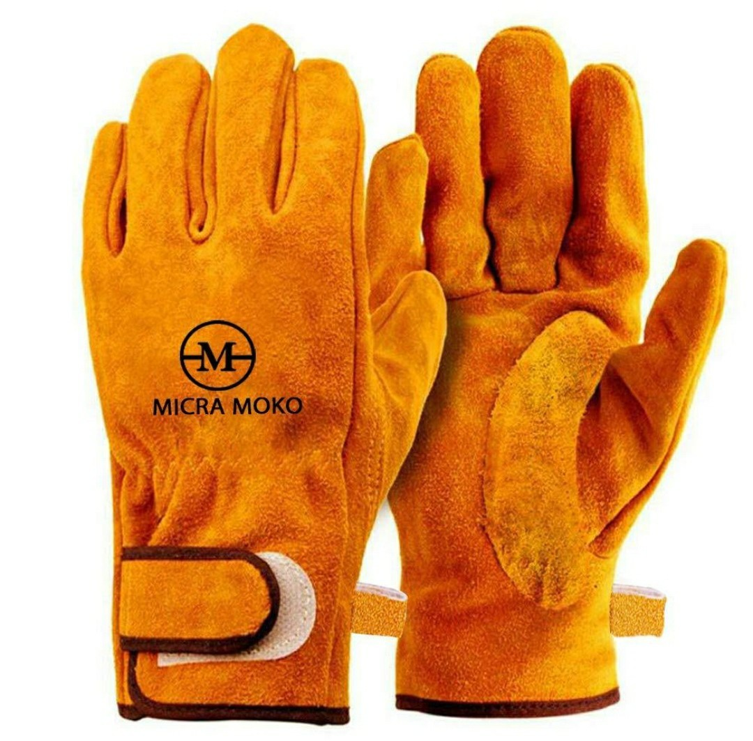 P002 耐熱 牛革 手袋 耐久質高グローブ キャンプ 工事 BBQ 防寒手袋