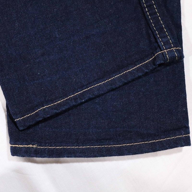 希少 美品 Levi's 901 リーバイス 濃紺ストレートデニムパンツ カラフル刺繍入り ボタンフライ メンズ ジーンズ W30 ウエスト約82㎝_画像7