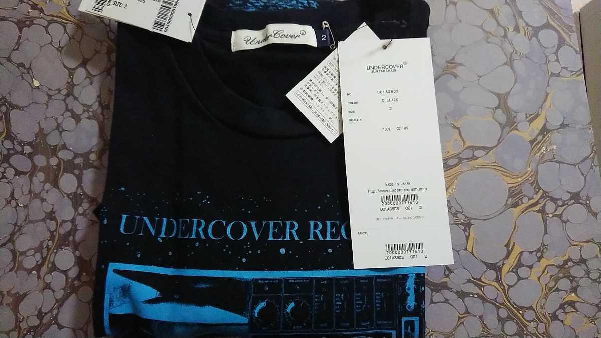 さんタク キムタク 2 Tee 21SS UNDERCOVER MOON UC RECORDS Tee アンダーカバー アンカバ Tシャツ Tee 黒_画像1