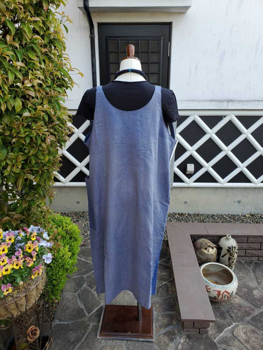 着物リメイク 古布 手作り 大きな紋 ジャンパースカート_画像7