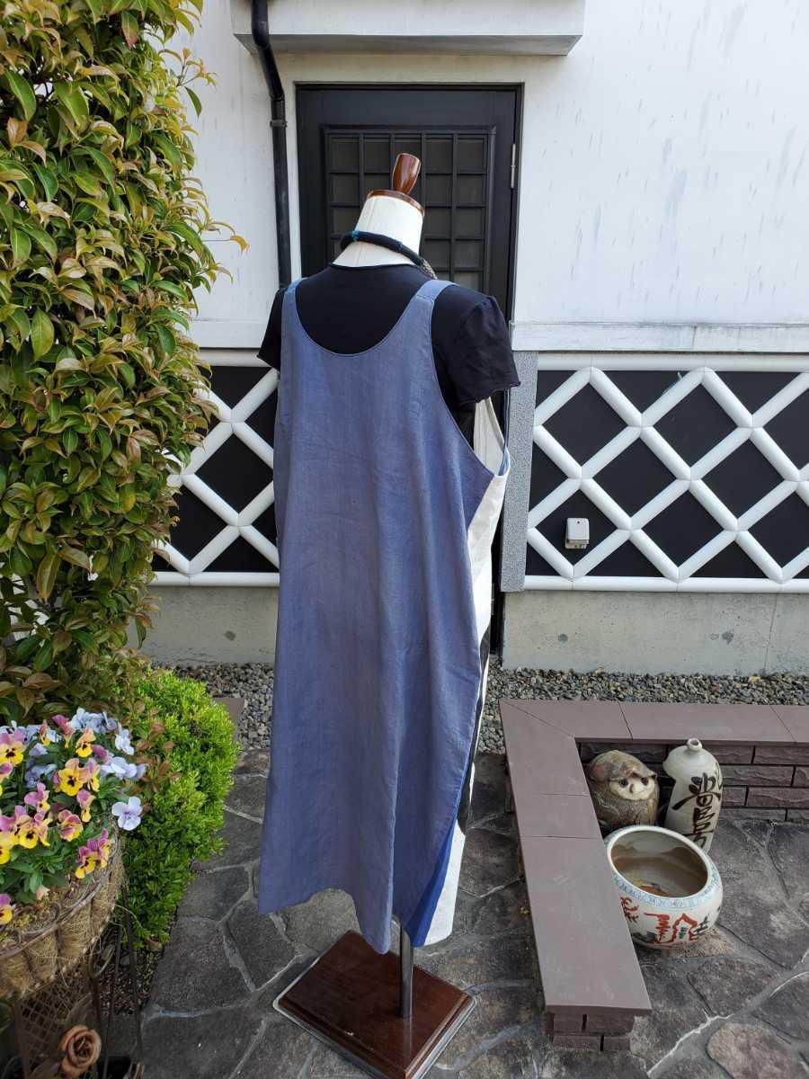 着物リメイク 古布 手作り 大きな紋 ジャンパースカート_画像8