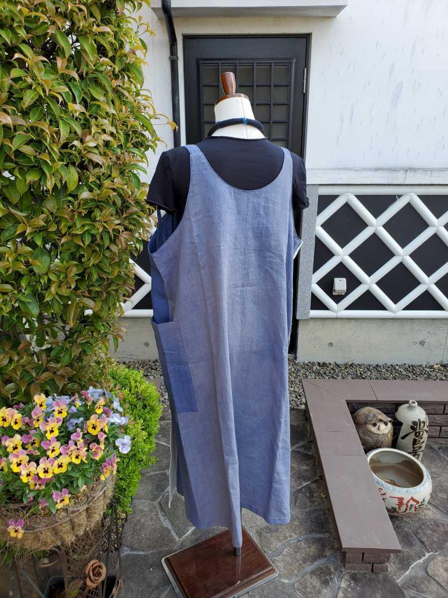 着物リメイク 古布 手作り 大きな紋 ジャンパースカート_画像9
