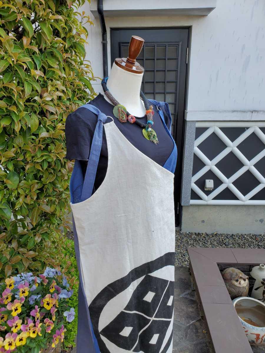 着物リメイク 古布 手作り 大きな紋 ジャンパースカート_画像5
