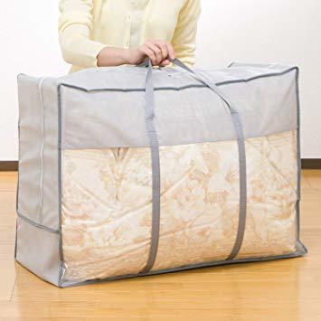 グレー (シングル・ダブル兼用) アストロ 羽毛布団収納袋 グレー (シングル・ダブル兼用) 不織布 持ち手付 軽圧縮 167-_画像3