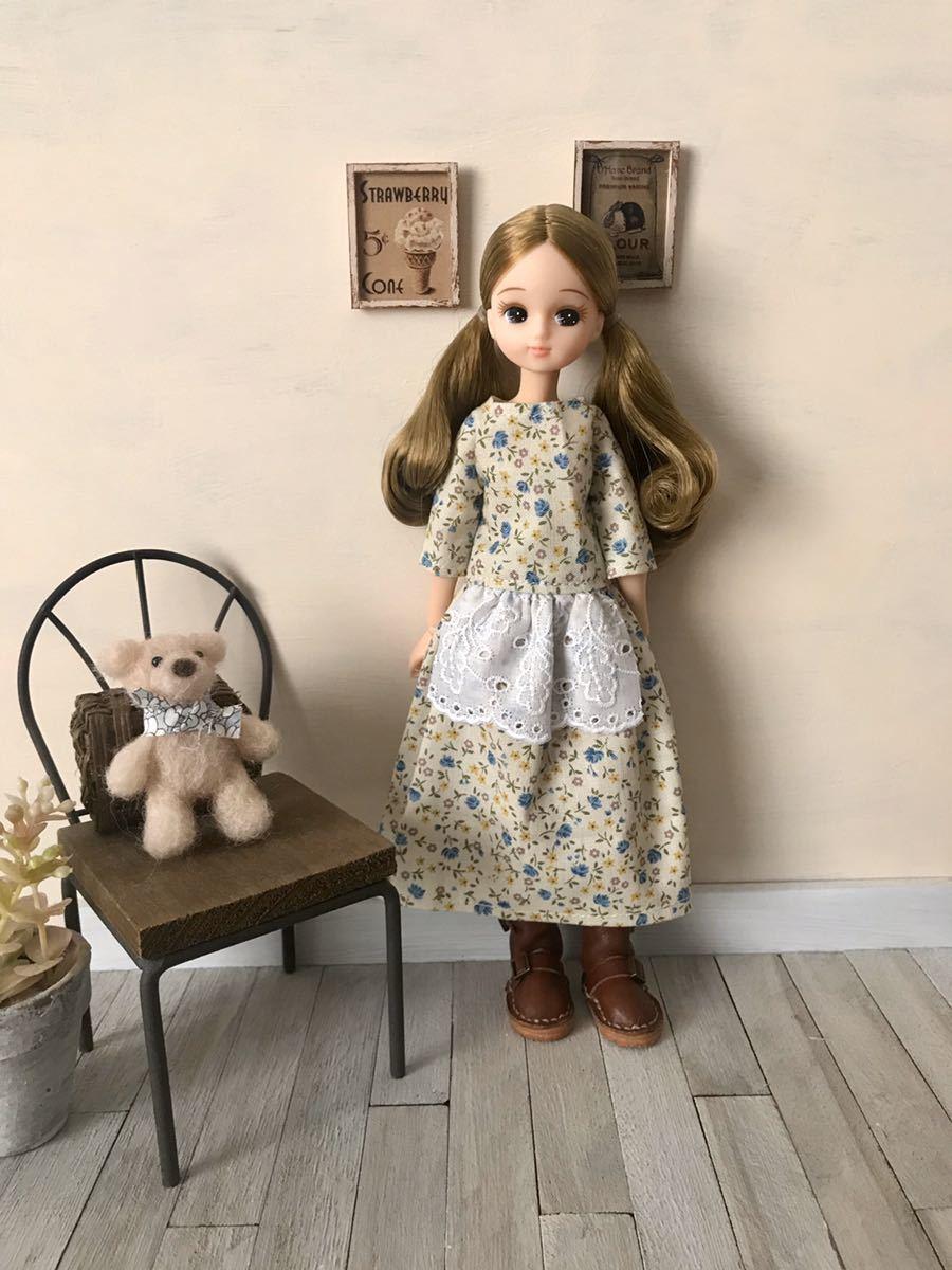 リカちゃん アウトフィット ワンピース ハンドメイド 着せ替え服 リカちゃん人形の服_画像3