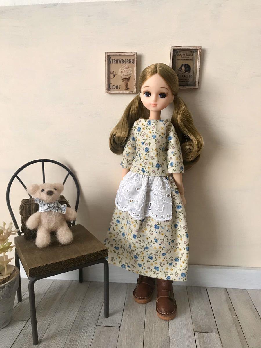 リカちゃん アウトフィット ワンピース ハンドメイド 着せ替え服 リカちゃん人形の服_画像1