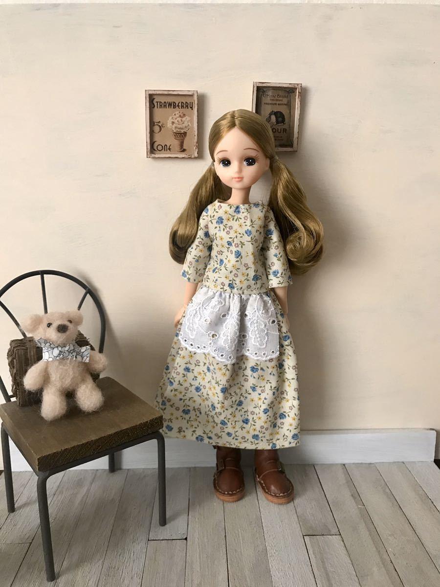 リカちゃん アウトフィット ワンピース ハンドメイド 着せ替え服 リカちゃん人形の服_画像2