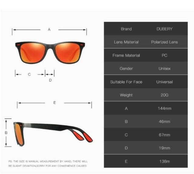 激安 新品 送料込み UV400 偏光レンズ ミラー サングラス 黒/赤