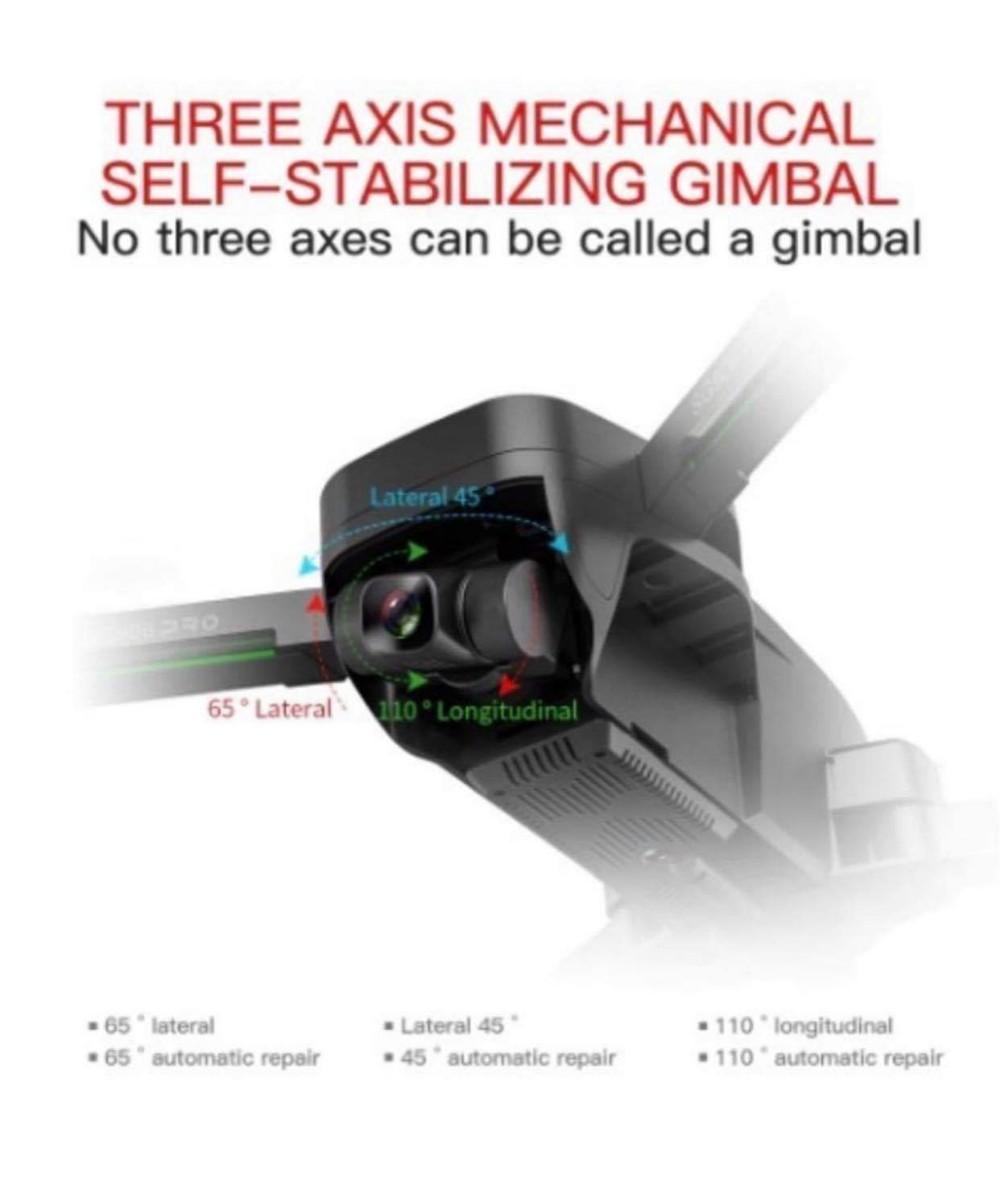ドローンカメラ付きSG906-PRO2 Sony IMAX 4K画質 3軸ジンバルカメラ