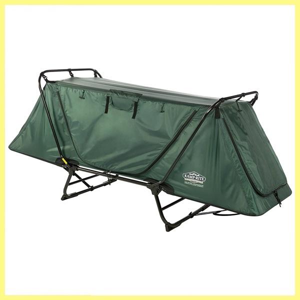【未使用品】 1円スタート!! Kamp-Rite カンプライト 持ち運びも便利 テント ベッド グリーン 簡単セットアップ 床高テント ラウンジチェア