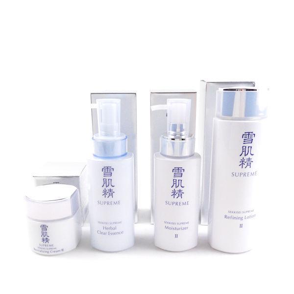KOSEコーセー 雪肌精 シュープレム 化粧水II・乳液II・クリームII・ハーバルクリアエッセ