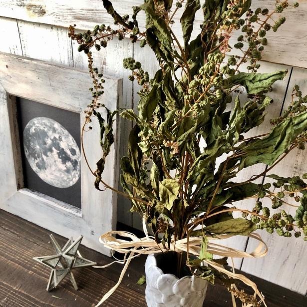 豊作Sale 星月猫★「ヨウシュヤマゴボウのみで作ったナチュラルスワッグ」ドライフラワー ブーケ 花束_画像4