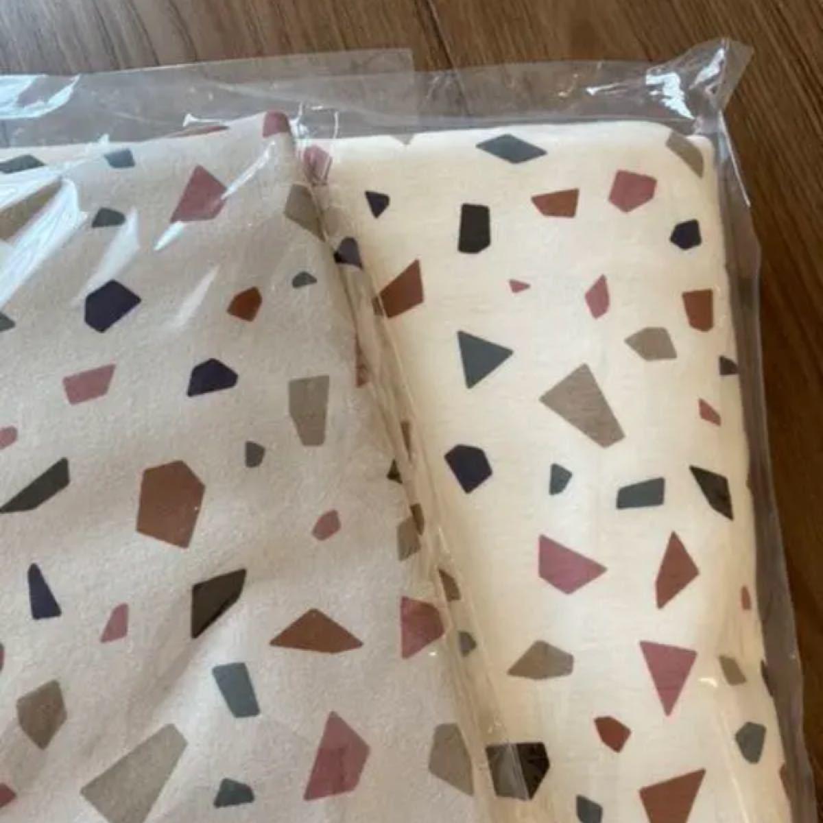 ニット生地 テラゾー柄 モカ Korea fabric フライスニット