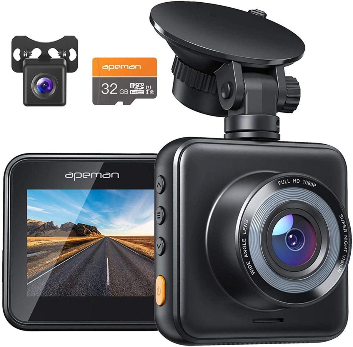 ■新品■ドライブレコーダー 前後カメラ フルHD高画質 170度超広角 Gセンサー 暗視機能 駐車監視 常時録画 上書きループ録画 操作簡単_画像1