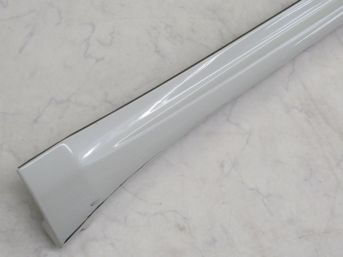 【20071296-1】トヨタ60系ハリアー用TRDサイドスカート(MS344-48001)右側のみ(運転席側)中古品 ホワイトパールクリスタルシャイン_画像4