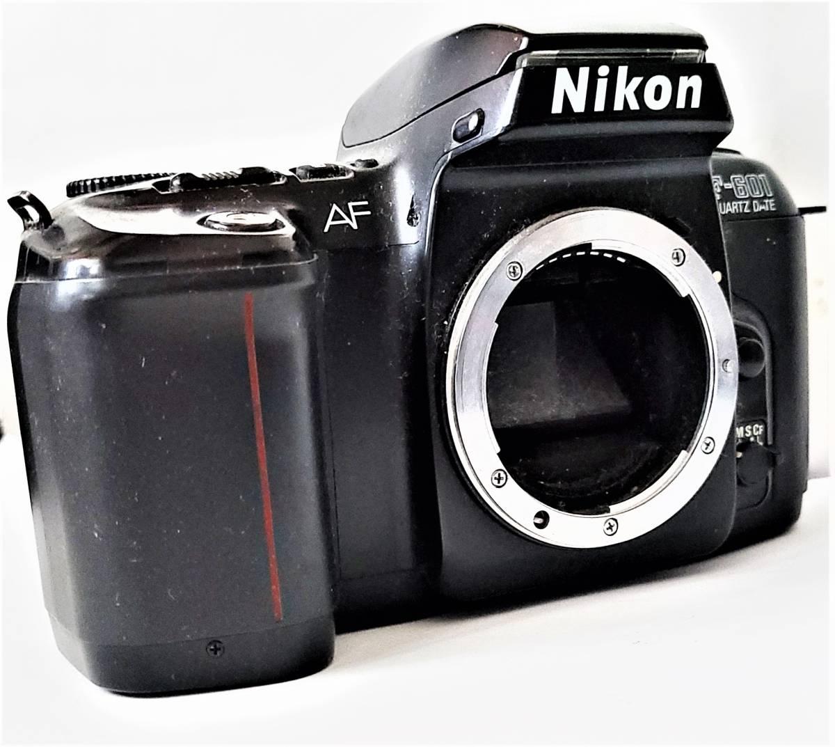 Nikon ニコン F-601 Quartz Date フィルムカメラ + Tamron タムロン 55-200mm f/4-5.6 レンズ 動作します_画像4