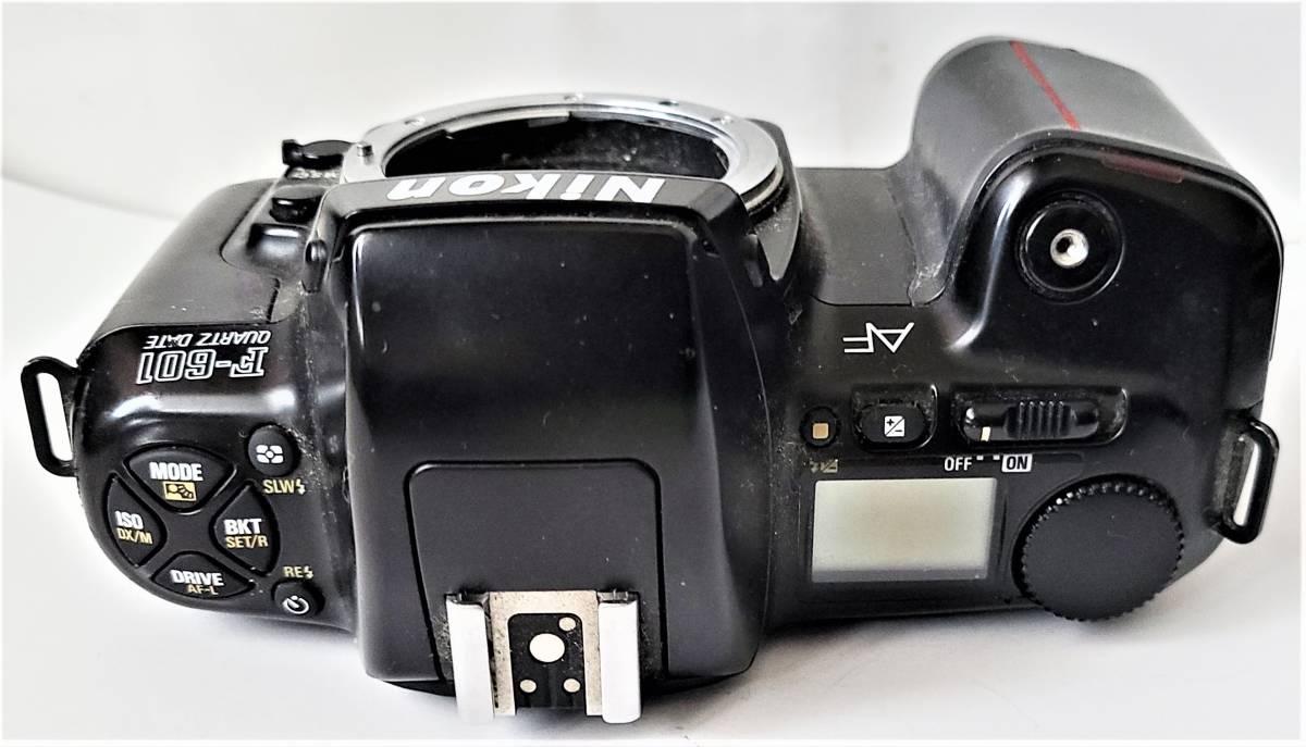 Nikon ニコン F-601 Quartz Date フィルムカメラ + Tamron タムロン 55-200mm f/4-5.6 レンズ 動作します_画像6