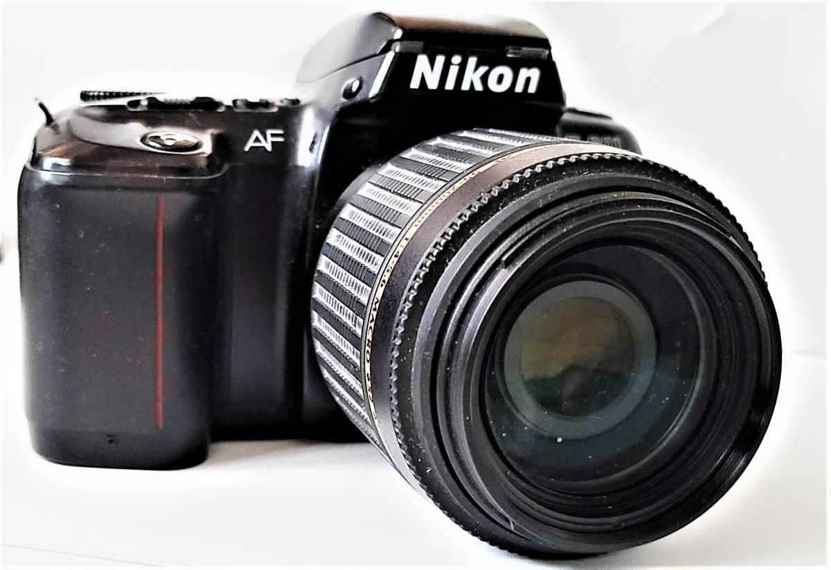 Nikon ニコン F-601 Quartz Date フィルムカメラ + Tamron タムロン 55-200mm f/4-5.6 レンズ 動作します_画像3