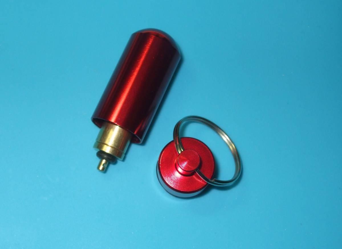 ガス詰め替えリフィル簡易アダプタ/カセットボンベ/アウトドアガスボンベ/CB缶 to OD缶専用アダプタ+予備パッキン+ケース付き 管理-35eR