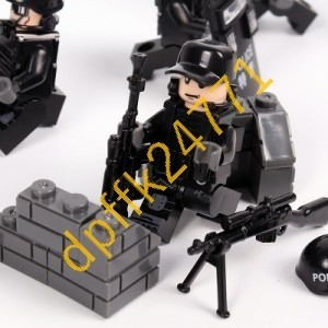 QA023:MOC LEGO レゴ ブロック 互換 SWAT 特殊部隊 アンチテロ部隊 カスタム ミニフィグ 6体セット 大量武器_画像3