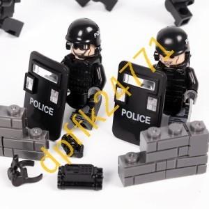 QA023:MOC LEGO レゴ ブロック 互換 SWAT 特殊部隊 アンチテロ部隊 カスタム ミニフィグ 6体セット 大量武器_画像2