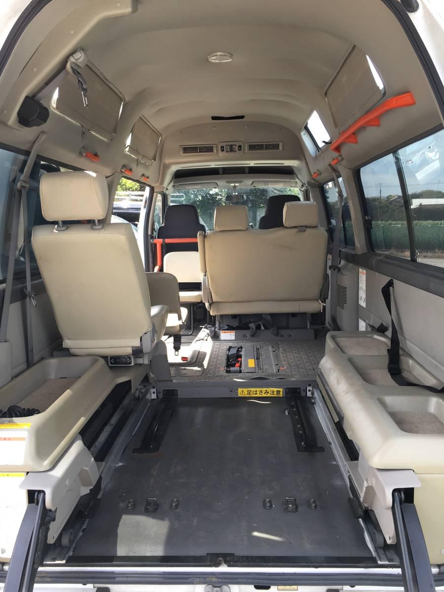キャラバン E25後期 ディーゼルターボ 4WD切替 スーパーロング ハイルーフ ホワイト 福祉車両 チェアキャブ 車いす移動車 トランポ ウェル_画像5