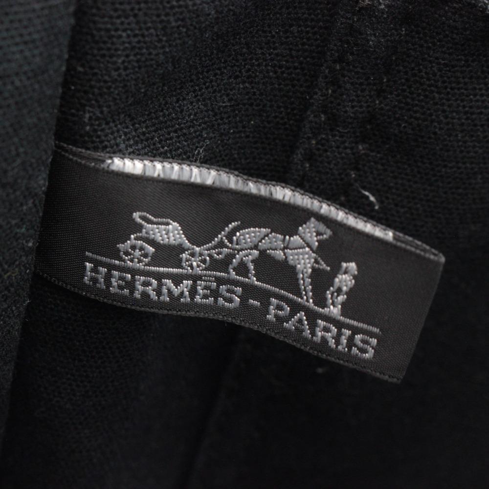 1円◆ HERMES エルメス フールトゥ MM トートバッグ ハンドバッグ キャンバス バッグ レディース メンズ ブラック グレー 中古_画像6