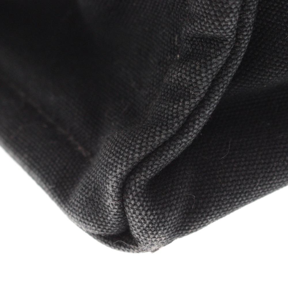 1円◆ HERMES エルメス フールトゥ MM トートバッグ ハンドバッグ キャンバス バッグ レディース メンズ ブラック グレー 中古_画像9