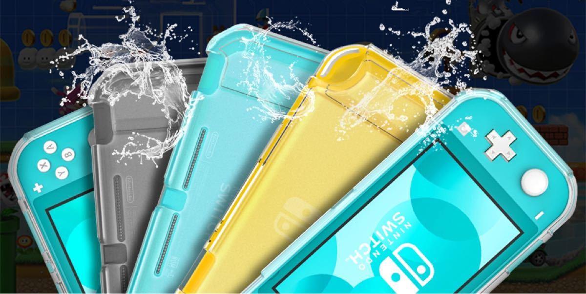 switch Lite 3-in-1 カバー スイッチソフト ケース TPU半透明保護 液晶保護フィルム スティックキャップ付け