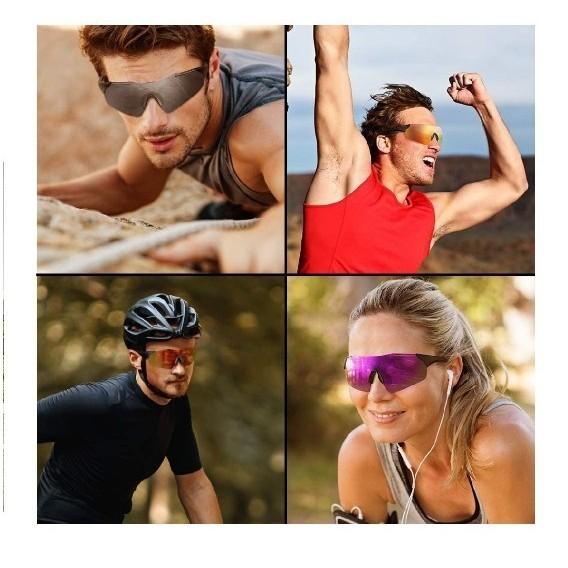 スポーツサングラス 偏光レンズ 野球 自転車 登山 釣り ゴルフ ランニング ドライブ バイク テニス スキー 超軽量 紫外