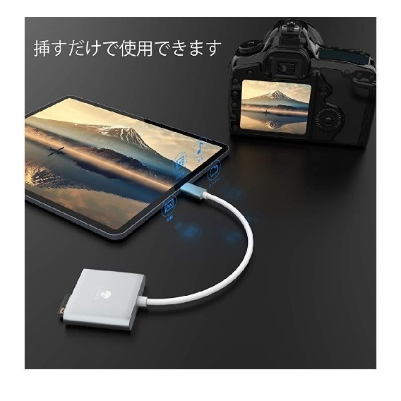 SD CF TF カードリーダー 、Stouchi USB type C to コンパクトフラッシュ