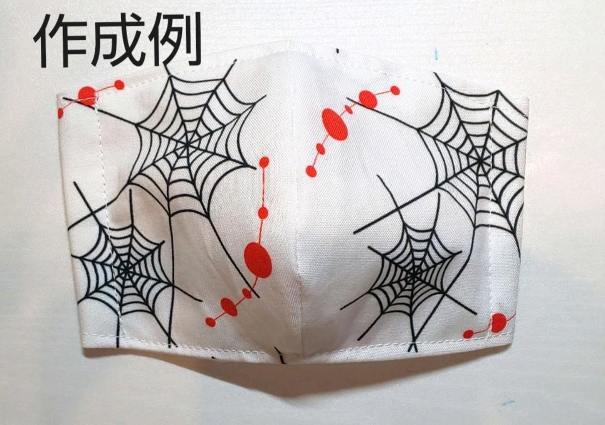 鬼滅の刃 生地 はぎれ ハギレ 蜘蛛の巣 累 鬼