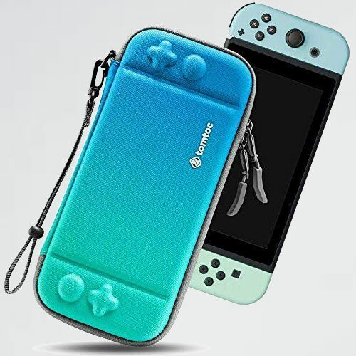 未使用 新品 Switch対応 Nintendo 3-GZ スペシャルカラ- ネオンブル- tomtoc ハ-ドケ-ス スイッチ 耐衝撃 薄型 キャリングケ-ス_画像1