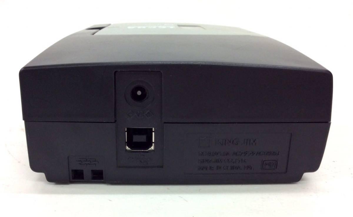 ジャンク品 キングジム PCラベルプリンター FC0622 テプラプロ SR3500P PC接続専用 KING JIM ブラック_画像4